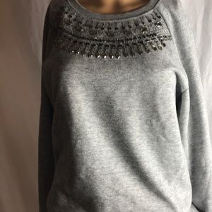 BCBG jeweled sweat shirt
